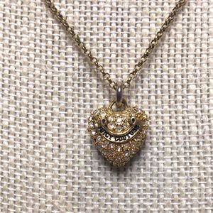 JUICY COUTURE heart necklace gold 16 inch